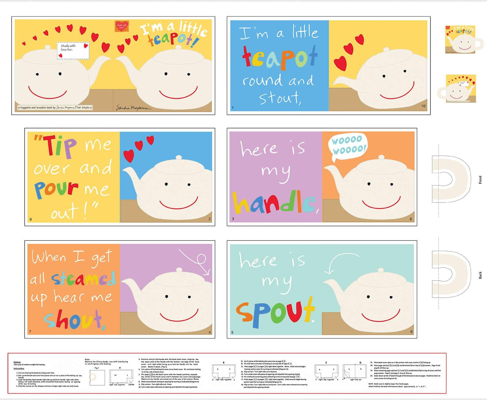 Hug&love IX Teapot Book 5529P-1