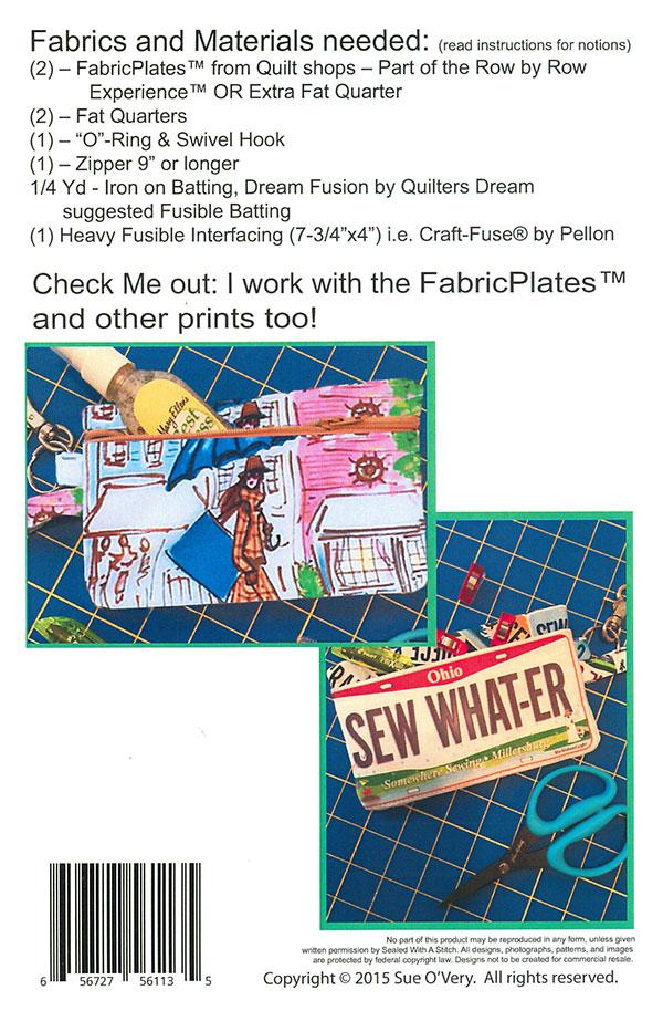License Plate Traveling Wristlet Pattern In The Hoop