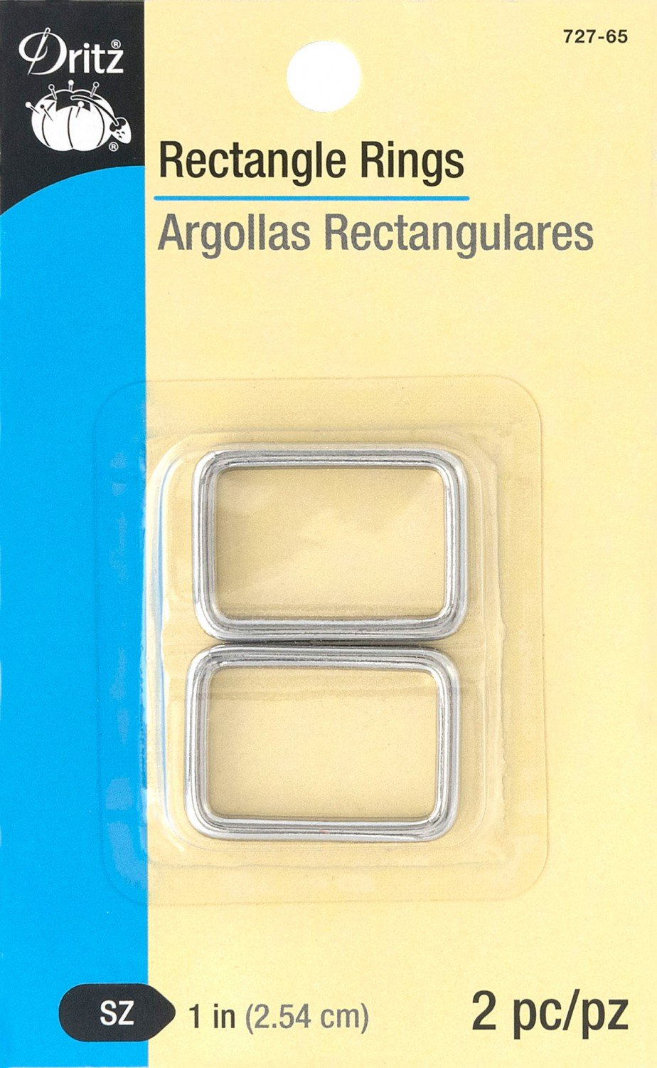 Rectangle Rings 1in 2pc