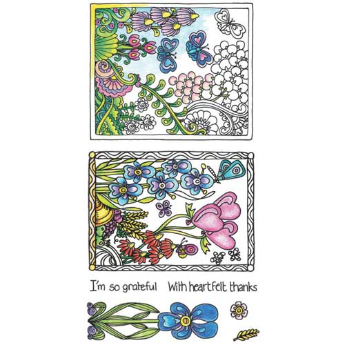 Coloring Clear Cling Stamps