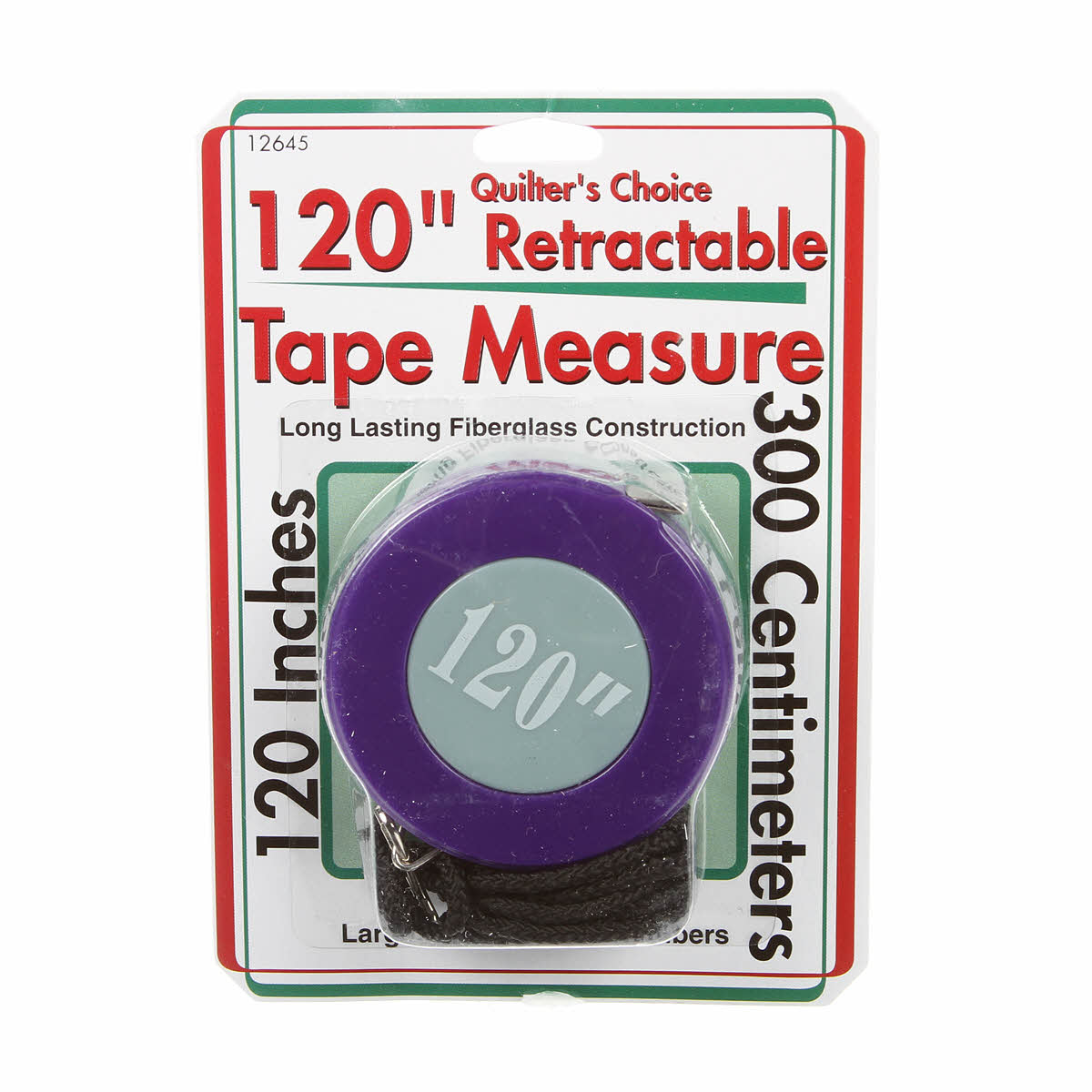 120 Retractable Tape Measure Quilters Choice