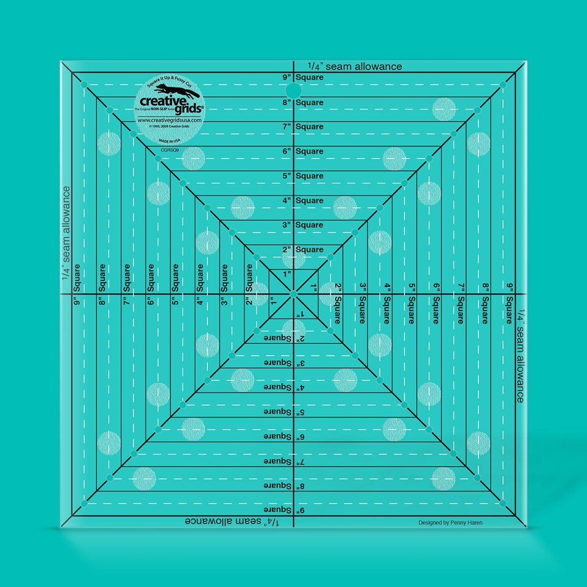 Creative Grids 9.5 Square It Up & Fussy Cut Ruler