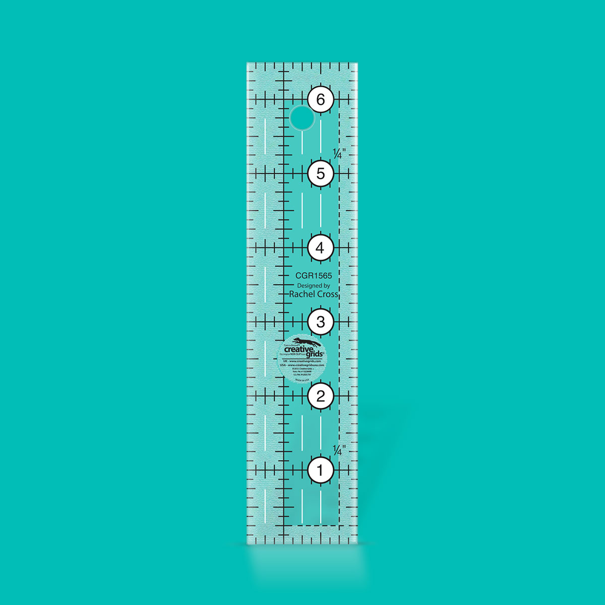 Creative Grids 1.5 x 6.5 Turn-a-Round Ruler