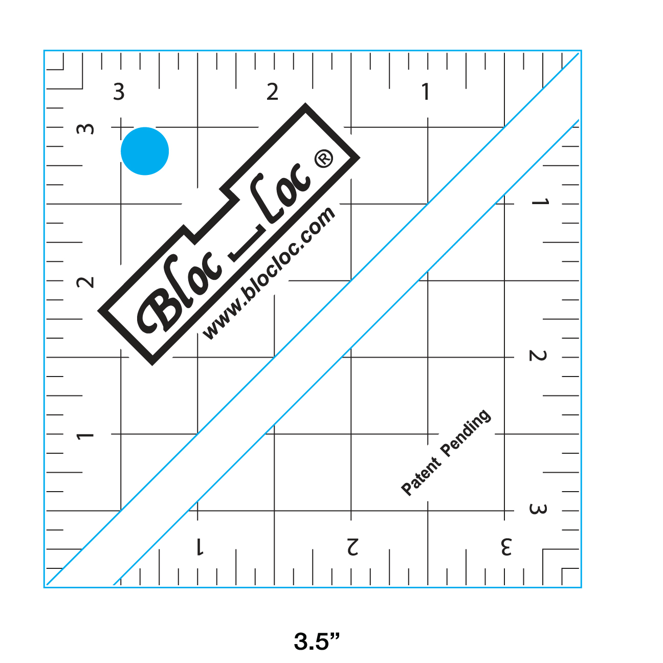 Bloc-Loc Half Square Triangle Ruler 3.5
