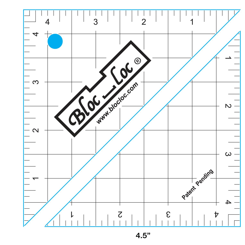 Bloc-Loc Half Square Triangle Ruler 4.5
