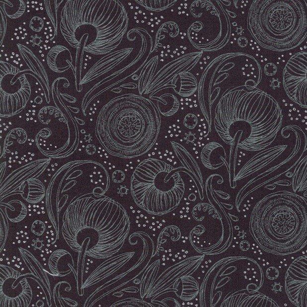 Blushing Peonies 48613-18 Charcoal