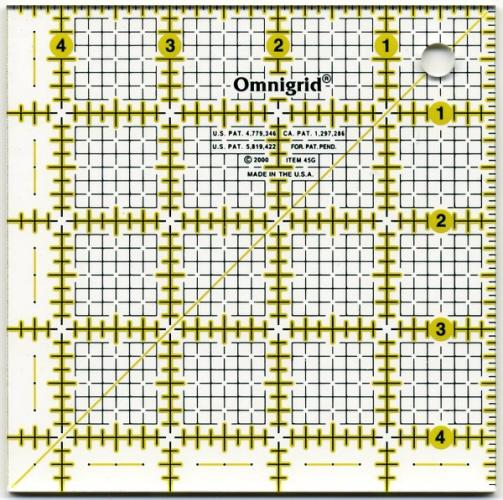 Omnigrid Square Ruler 4.5