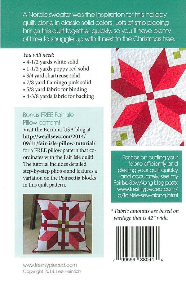 Fair Isle Quilt Freshly Pieced Modern Patterns - 799599880444