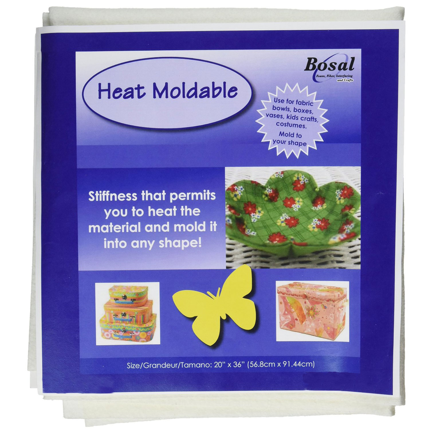 Bosal Heat Moldable 20 x 36