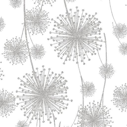 Nature's Pearl 8461-09 Dandelion Shadow White
