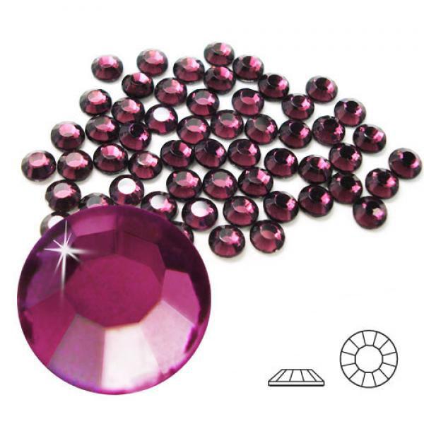 4mm Hot Fix Crystals Amethyst 100ct
