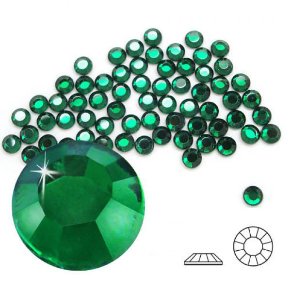 4mm Hot Fix Crystals Emerald 100ct