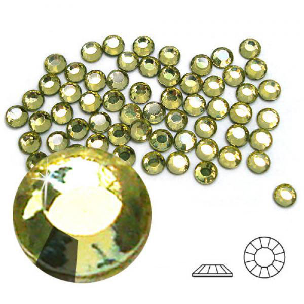 4mm Hot Fix Crystals Jonquil 100ct