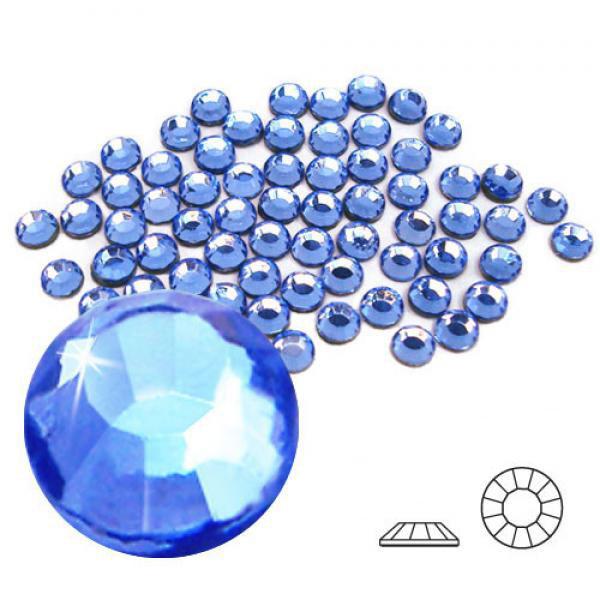 4mm Hot Fix Crystals Lt Sapphire 100ct