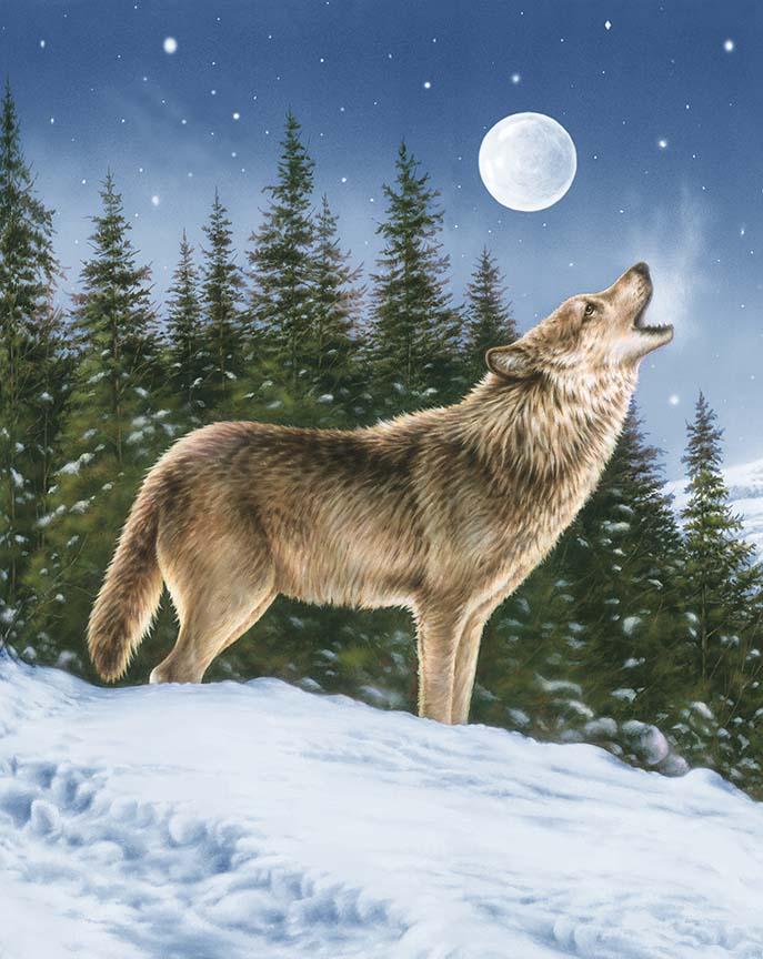 Majestic Panel Wolf