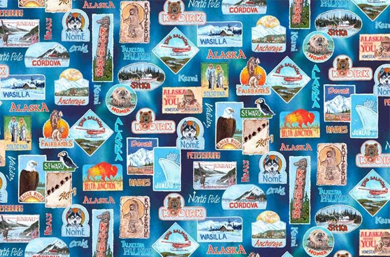All Over Alaska ALKA04230MU Blue Multi
