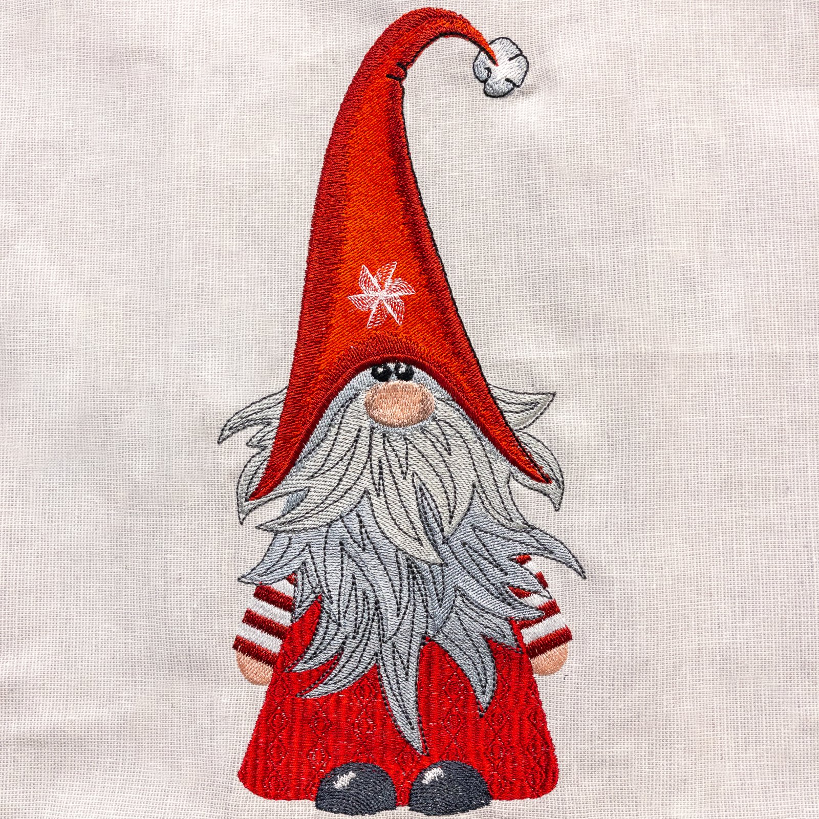 Gnome Embroidered Panel