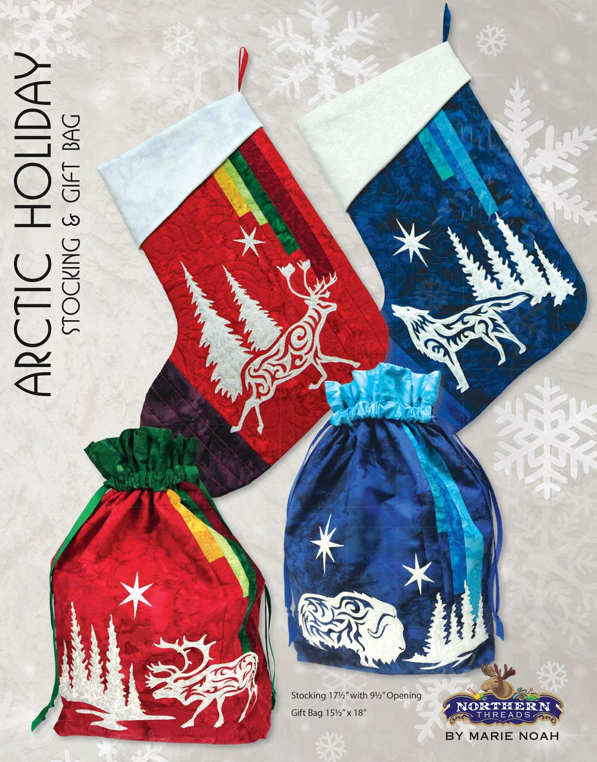 Arctic Holiday Stocking and Gift Bag Pattern