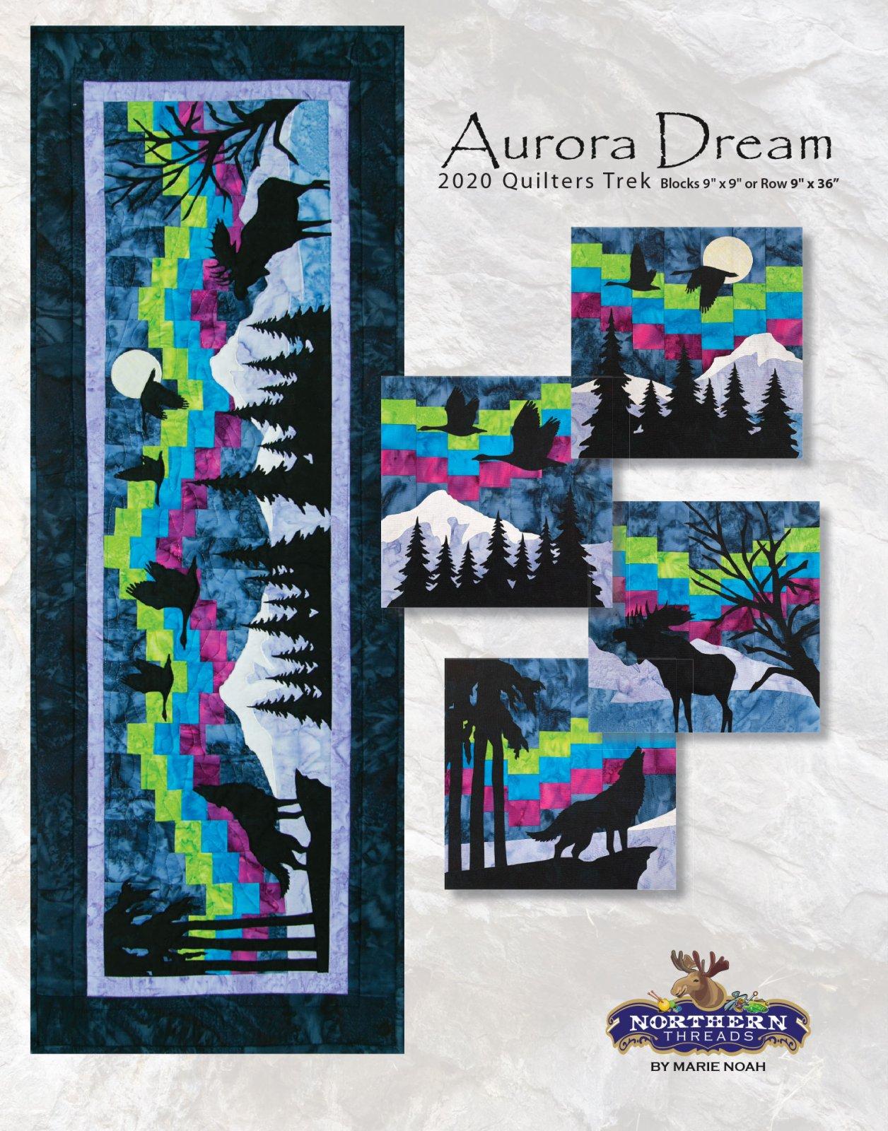 Aurora Dream Pattern Quilters Trek 2020