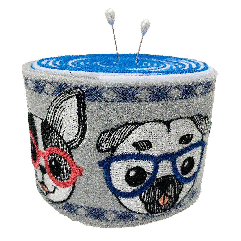 Embroidered Felt Pincushion Bark Trio