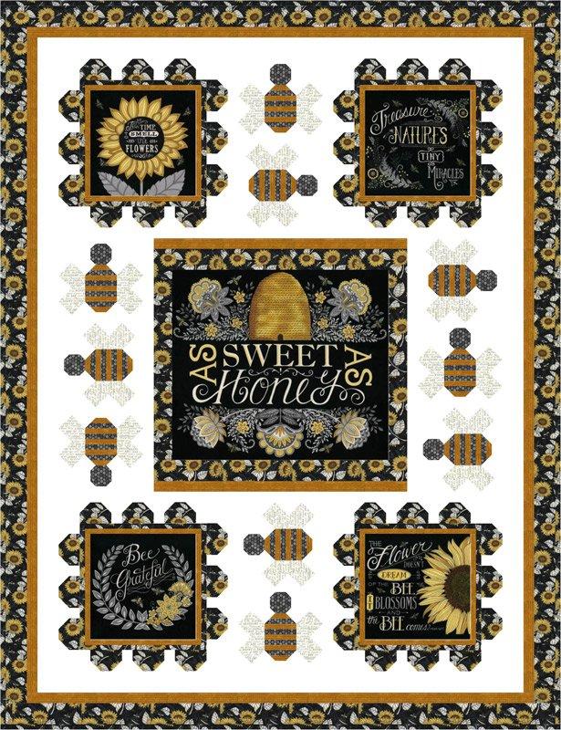 Bee Grateful Sweet as Honey Quilt Kit
