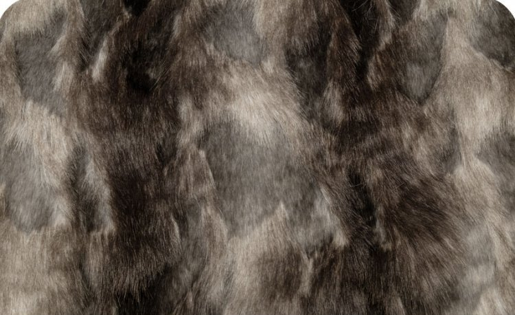 Brandy Faux Fox Fur 58/60 Ash