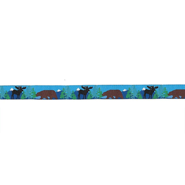 1/2 Woven Trim AK Brown Bear Black Moose