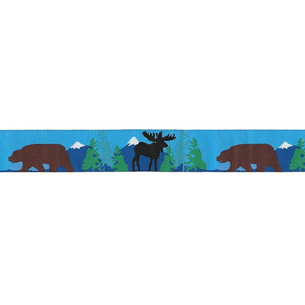 7/8 Woven Trim AK Brown Bear Black Moose