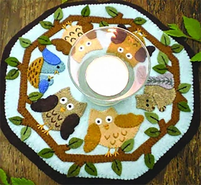 Bareroots In The Woods Candle Mat Kit With Pattern