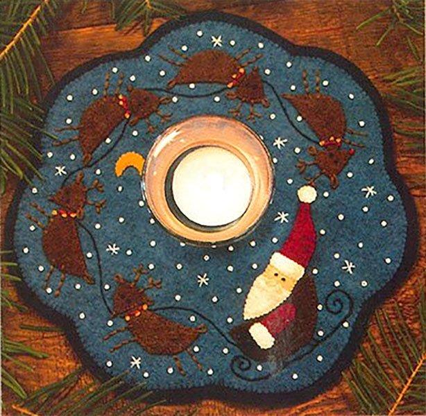 Bareroots Santa & Reindeer Candle Mat Kit With Pattern