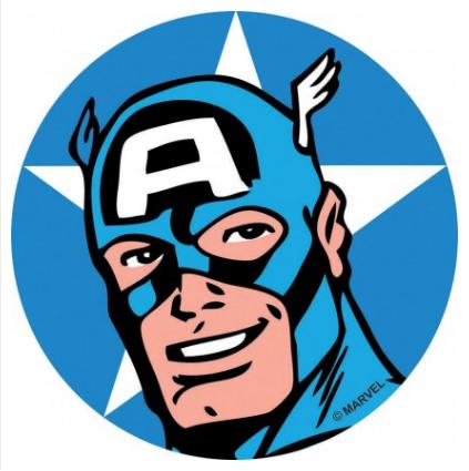 Captain America Adhesive Fabric