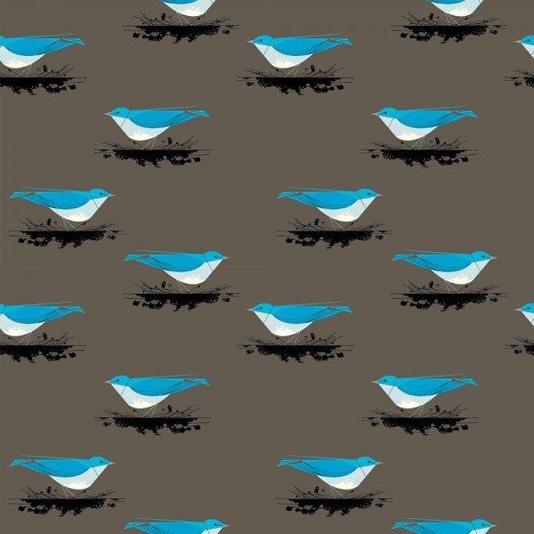 Western Birds by Charley Harper Mountain Blue Bird CH-42