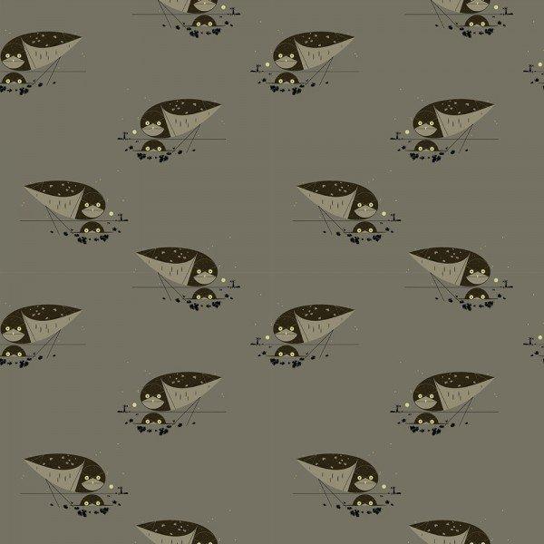 Western Birds by Charley Harper Burrowing Owl CH-51