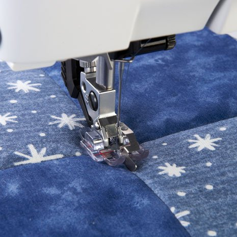 Clear Stitch-in-Ditch Foot with IDT system