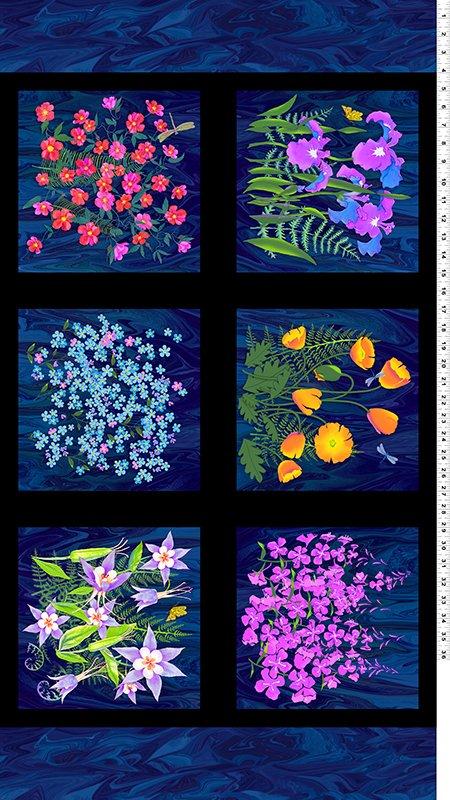 Wildflowers Y1891-93 Panel by Teresa Ascone