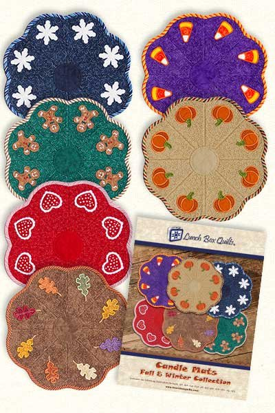 CD Candle Mats Fall & Winter Embroidery Applique Quilt