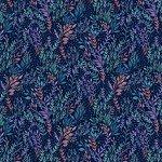 Unicorn Meadows Petite Leaf Ink by Michael Miller