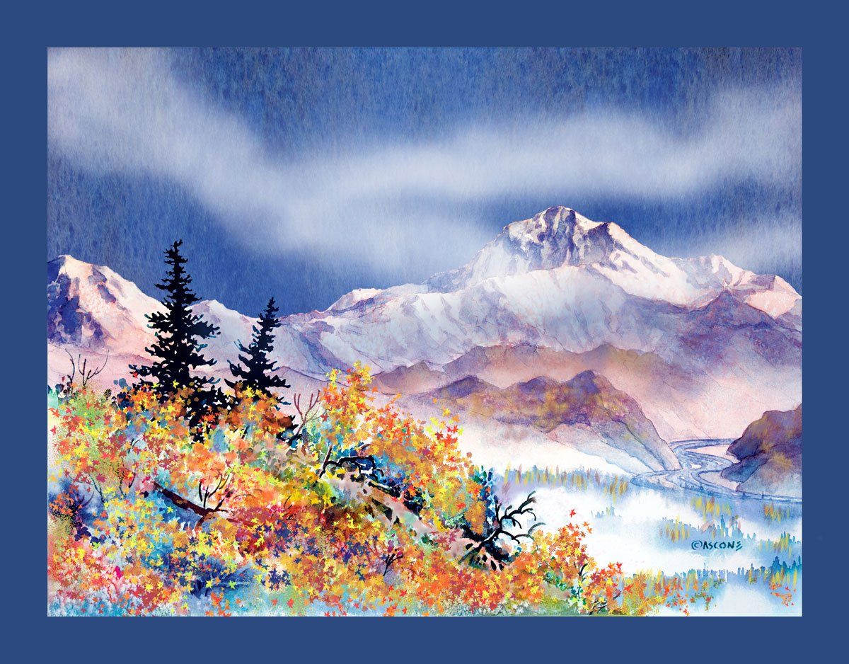 Denali Autumn Fabric Panel by Teresa Ascone
