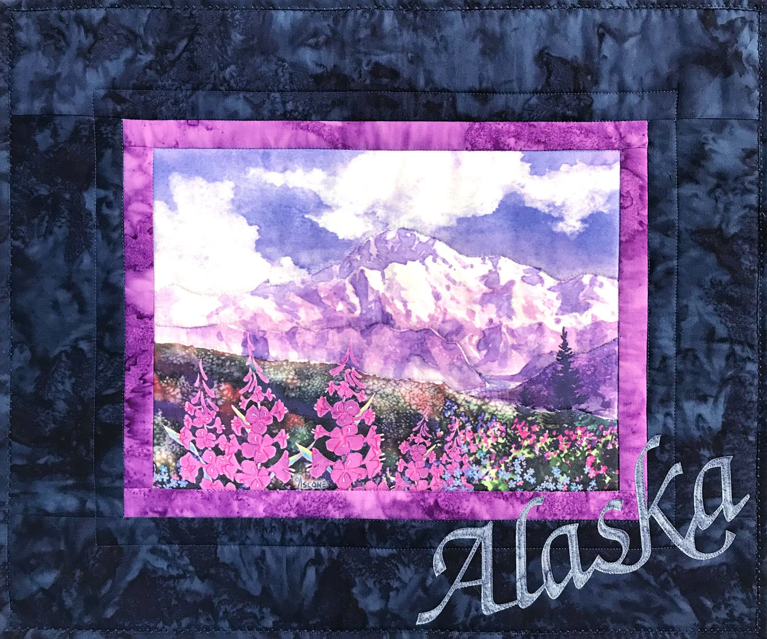 Denali with Fireweed Fabric Art Quilt Kit