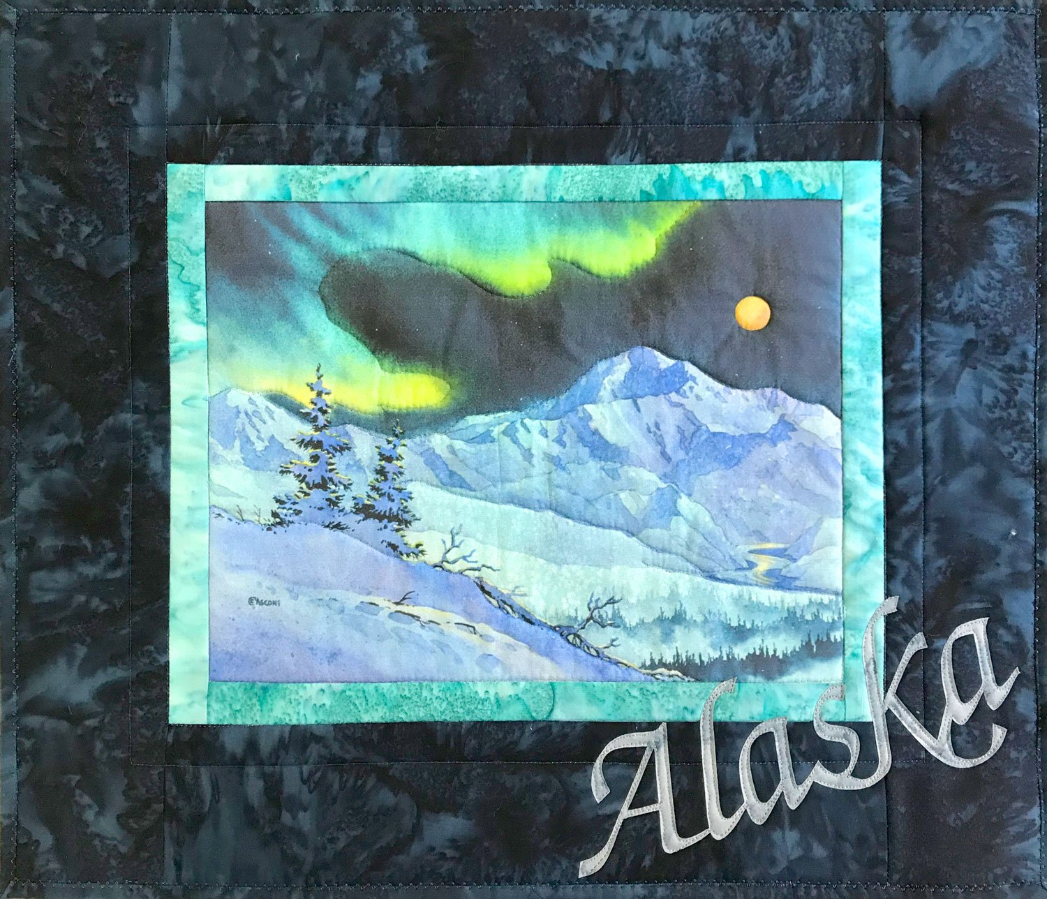 Denali Night Fabric Art Quilt Kit