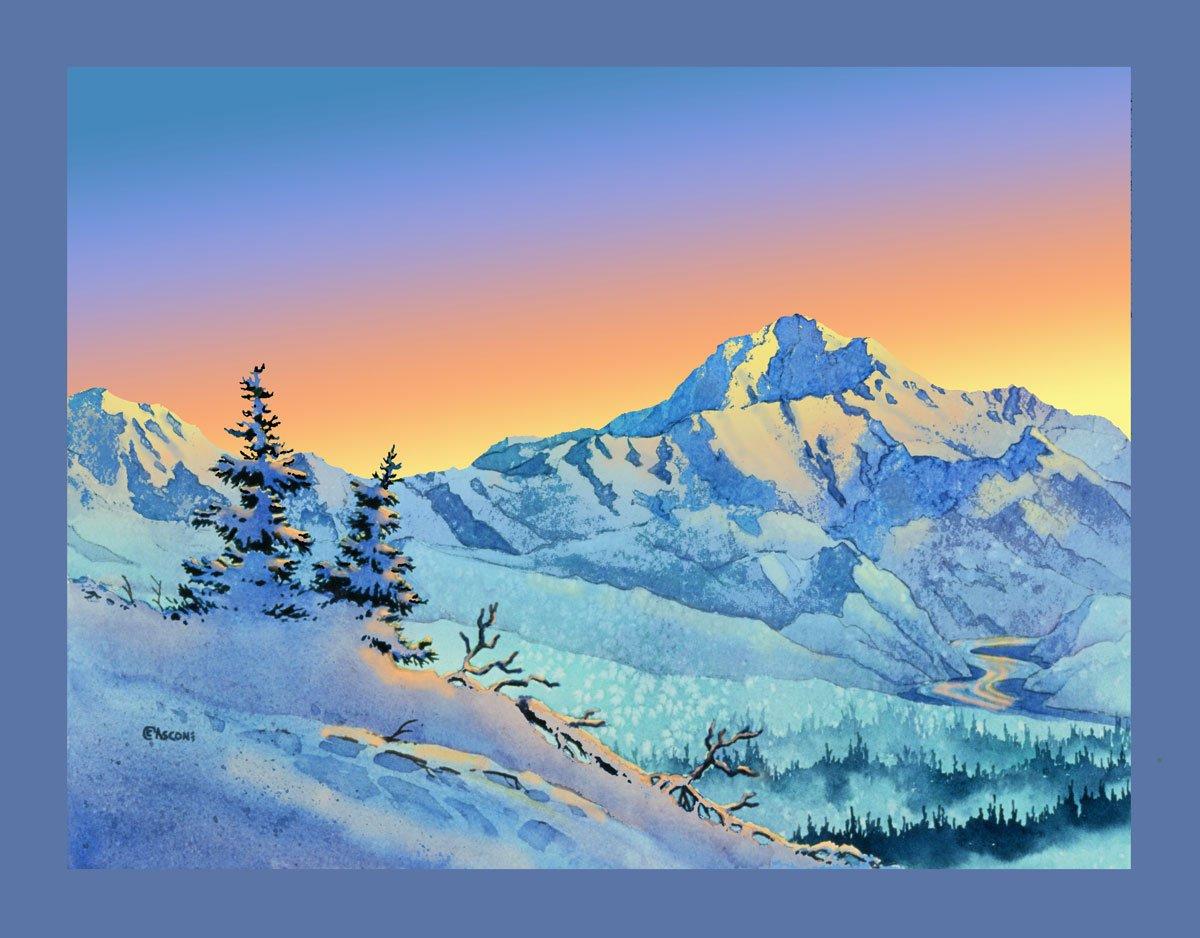 Denali Sunrise Fabric Panel by Teresa Ascone