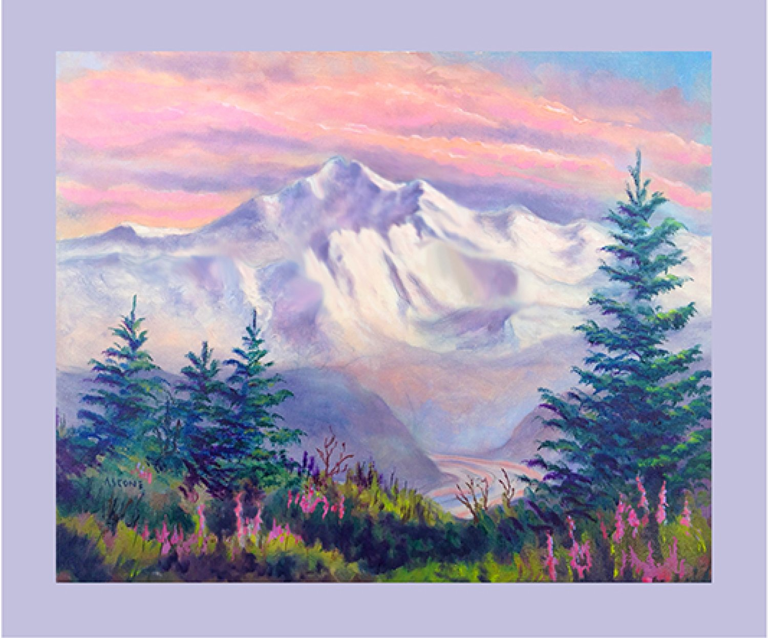 Denali The Great One Fabric Panel by Teresa Ascone
