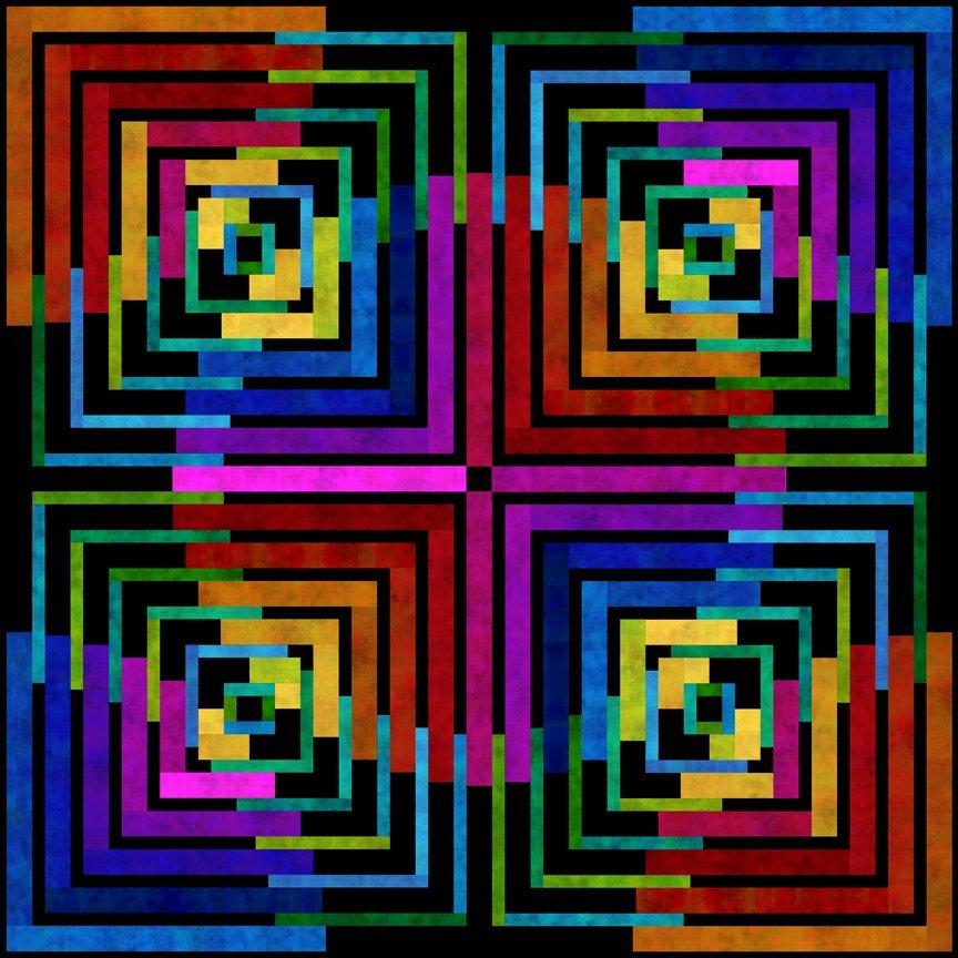 DitDot Evolution Antelope Canyon Quilt Pattern