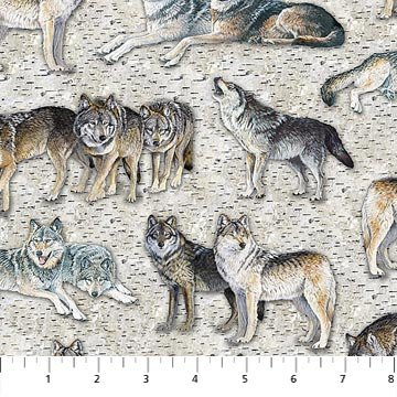 Resting Point Wolves DP22010-92 Grey