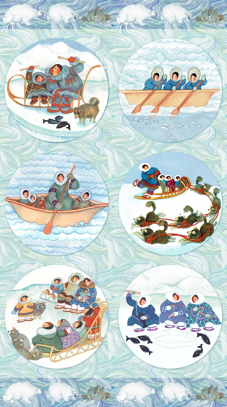 Arctic Wonders Arctic Circles Panel DP23148-42