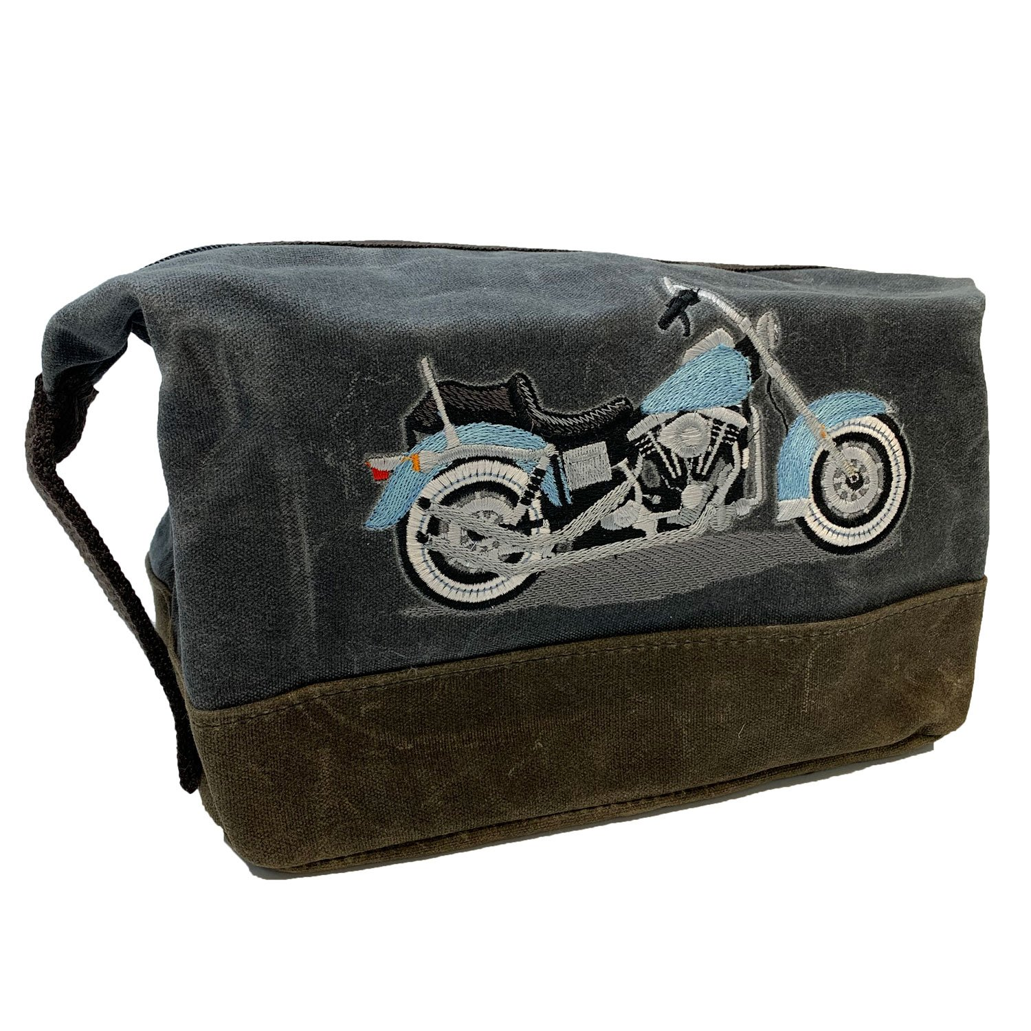 Embroidered Waxed Canvas Bag Easy Rider Motorcycle
