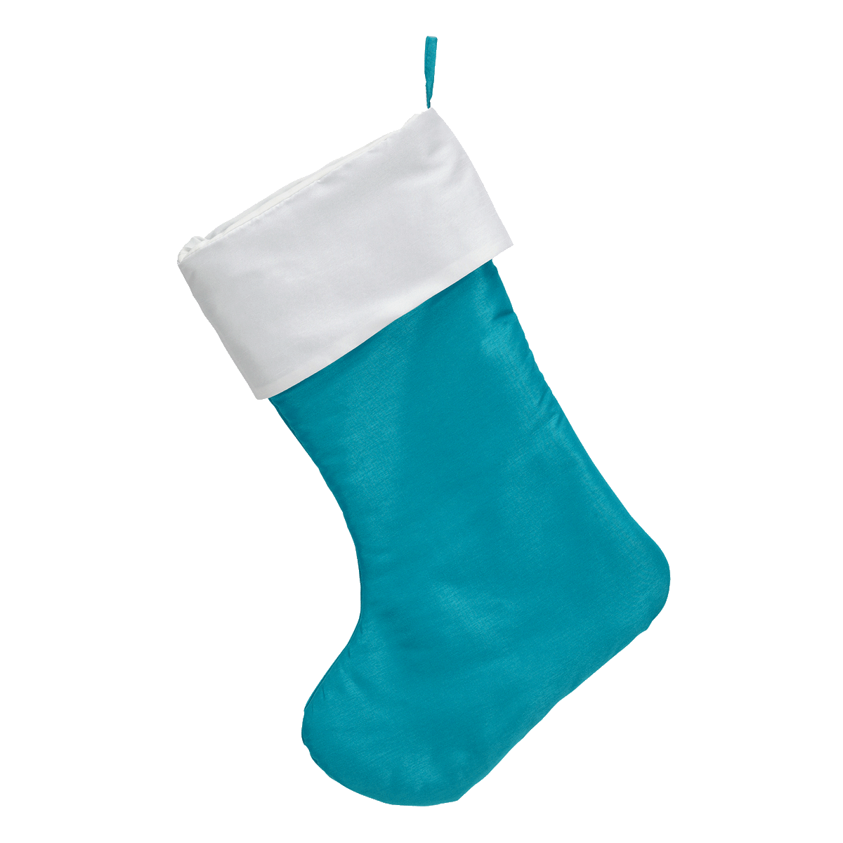 Embroider Buddy Traditional Christmas Stocking Teal Blue