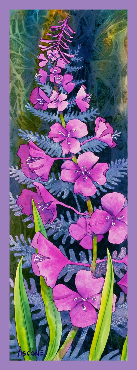 Fireweed Solitaire panel by Teresa Ascone