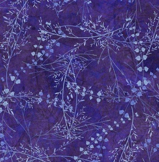 Flower Jewels 04263 Blue Violet Leaves