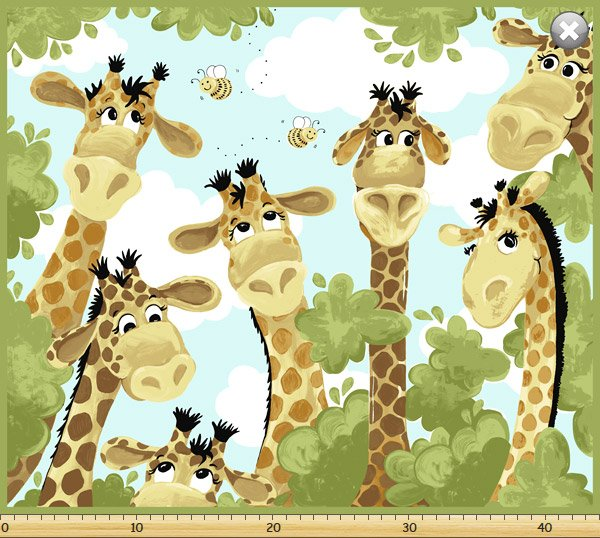 Mayfair Panel Zoe Giraffe Playmat